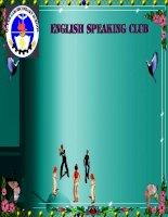 Tài liệu ôn tập english speaking club 2014