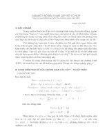 Giải một số bài toán dãy số tổ hợp theo quan điểm không gian các dãy