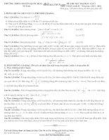 Đề thi thử đại học và đáp án môn Toán khối D
