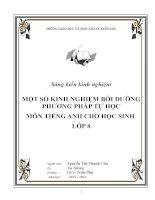 skkn  Một số kinh nghiệm bồi dưỡng phương pháp tự học môn tiếng anh cho học sinh lớp 8