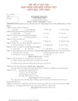 Bộ đề luyện thi học sinh giỏi lớp 5 môn tiếng Việt