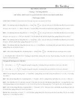 bài tập về thời gian và quãng đường trong dao động điều hòa