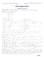chuyên đề bài tập tổng hợp phần hiđrocacbon