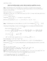 Bài tập hình học giải tích trong không gian lớp 12 tham khảo