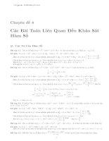 Các bài toán liên quan đến khảo sát hàm số - Luyện thi đại học (Có đáp án chi tiết)