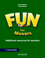 Cambridge   FUN for movers teacher''s book 2nd edition