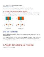 Cấu tạo và nguyên tắc hoạt động của Tranzitor