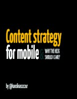 Content strategy for mobile and why should you care
