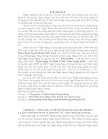 báo cáo tổng hợp về hoạt động kinh doanh của ngân hàng ngoại thương việt nam (tên viết tắt vcb)