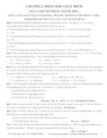 CHƯƠNG 1 ĐỘNG học CHẤT điểm HAY và KHÓ