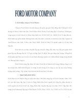 Tiểu luận: Mô hình chuỗi cung ứng Công ty Ford Motor 2