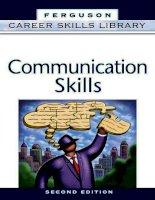 Tài liệu tiếng Anh COMMUNICATION SKILLS