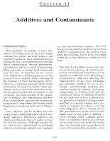 Additives and contaminants 1 - Principle of food chemistry