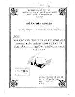 Vai trò của ngân hàng thương mại trong tiến trình hình thành và vận hành thi trường chứng khoán việt nam - vũ nhất linh. hutech, 1999