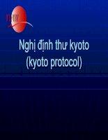 nghị định thư kyoto (kyoto protocol)
