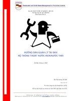 Hướng dẫn quản lý tài chính hệ thống nước Việt Nam