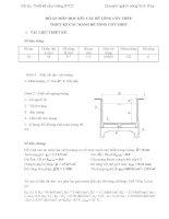 Đồ án chuyên ngành Công trình thủy lợi: Thiết kế cầu máng bê tông cốt thép