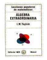 i.m. yaglom.- álgebra extraordinaria