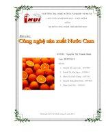 Báo cáo công nghệ sản xuất nước cam