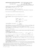 Đề thi thử toán khối a  lần 1 năm 2014 trường Chuyên Quảng Bình
