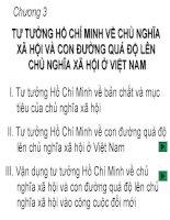 Chương 3 Tư tưởng Hồ Chí Minh về Chủ Nghĩa Xã Hội và con đường quá độ lên CNXH ở Việt Nam