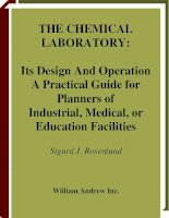 the chemical laboratory its design and operation a practical guide for planners of industrial, medical, or educational facilities