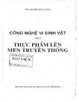 Công nghệ vi sinh vật nguyễn đức lượng. tập 3, thực phẩm lên men truyền thống, đh bách khoa tp.hcm, 1999