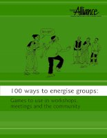 100 ways to energise group - games to use in workshops, meetings and the community