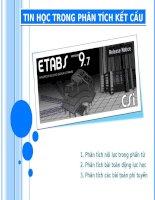 Tin học trong phân tích kết cấu - Etabs 9.7