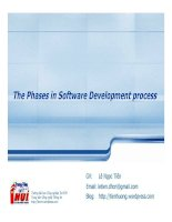 The phases in software development process