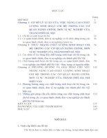 luận văn thạc sĩ Nâng cao chất lượng sinh hoạt chi bộ trong các đơn vị cơ sở hành chính, sự nghiệp của thành phố Hà Nội