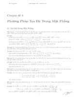 Phương pháp tọa độ trong mặt phẳng - Luyện thi đại học (Có đáp án chi tiết)