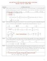 hướng dẫn giải chi tiết đề thi đại học vật lý  năm 2012