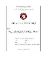 Khóa luận tốt nghiệp: Phát triển tư nhân ở Việt Nam hiện nay - Thực trạng và giải pháp