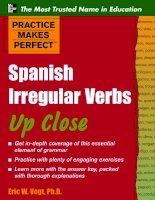 practice makes perfect spanish irregular verbs