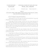 quy hoạch xây dựng nông thôn mới xã Hùng Sơn, huyện Đại từ, tỉnh Thái Nguyên