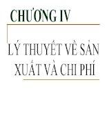 chương 4 lý thuyết sản xuất và chi phí