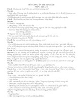 ĐỀ CƯƠNG ÔN TẬP HỌC KÌ II - ĐỊA 6