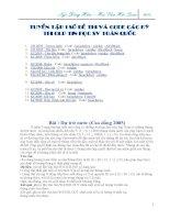 Tuyển tập các đề thi và code OLP Tin Học SV