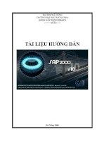 GIÁO TRÌNH HƯỚNG DẨN PHẦN MỀM SAP2000