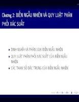 Bài giảng Lý thuyết xác suất và thống kê toán: Chương 2 - Phạm Thị Hồng Thắm