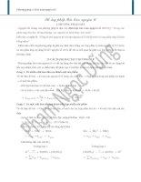 Giải bài tập hóa bằng phương pháp bảo toàn nguyên tố