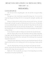 skkn Rèn kỹ năng về sửa lỗi câu trong giảng dạy môn tiếng việt