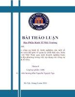 Các văn bản quy định các công cụ kinh tế trong quản lý chất thải rắn liên hệ với một doanh nghệp ở Việt Nam