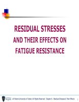 residual stresses and their effects on fatigue resistance
