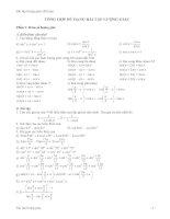 Tổng hợp các dạng bài tập lượng giác ôn thi đại học