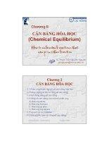 chương ii cân bằng hóa học