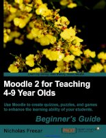 moodle 2 for teaching 4 9 year olds