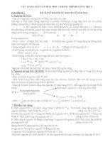 Các dạng bài tập hóa học chơng trình lớp 8