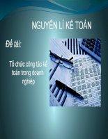 Tổ chức công tác kế toán trong doanh nghiệp liên hệ công ty cổ phần VIệt Thái